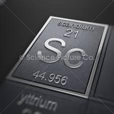 Scandium plate
